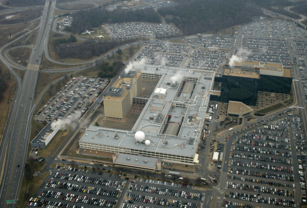 An aerial view of National Security Administration (NSA) headquarters in Fort Meade, MD. Photo by Brooks Kraft/Corbis