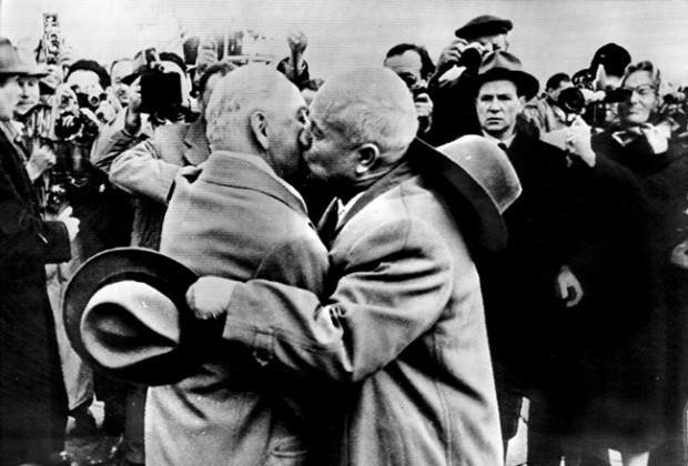 Russians Kissing Khrushchev