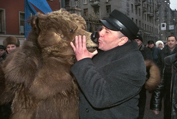 Russians Kissing Zhirinovsky