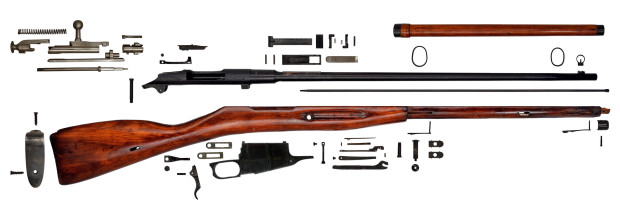 Gun Anatomy Russian Mosin