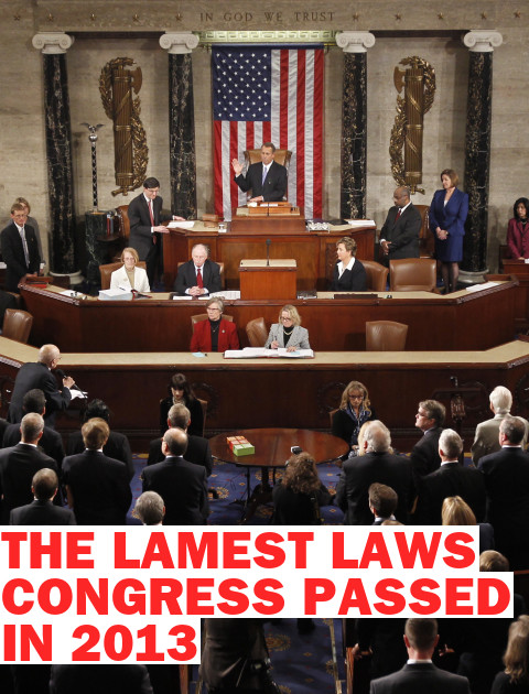 The 10 Lamest Laws Passed by Congress in 2013