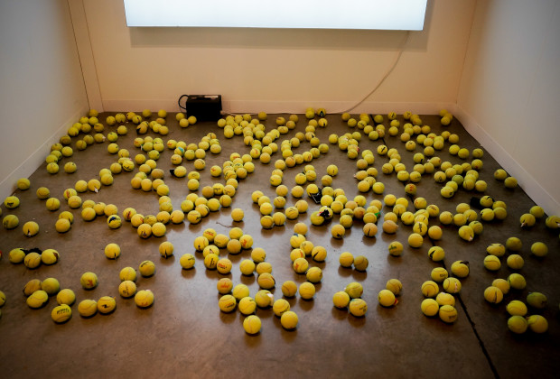 tennis balls, Art Basel