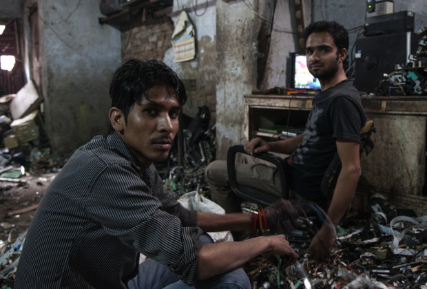 New Delhi: India: 2013 Workers are concerned because their workload has been dwindling. Delhi's pollution control officials have for the last couple of years tried to clamp down on the dangerous and illegal trade of dismantling and reselling electronic waste within the capital.