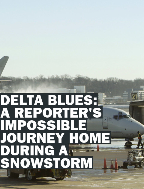 Delta, snow, snow storm, delays, airport