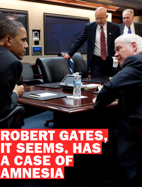 The Amnesia of Robert Gates