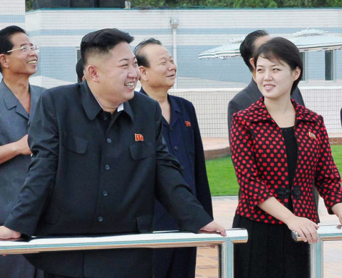 North Korean leader Kim Jong-Un (2nd L) and an unidentified woman visit the Rungna People's Pleasure Ground, which is nearing completion, in Pyongyang in this undated picture released by the North's KCNA on July 25, 2012. REUTERS/KCNA (NORTH KOREA - Tags: POLITICS TPX IMAGES OF THE DAY) THIS IMAGE HAS BEEN SUPPLIED BY A THIRD PARTY. IT IS DISTRIBUTED BY REUTERS, AS A SERVICE TO CLIENTS. NO THIRD PARTY SALES. NOT FOR USE BY REUTERS THIRD PARTY DISTRIBUTORS. QUALITY FROM SOURCE - RTR35AAL