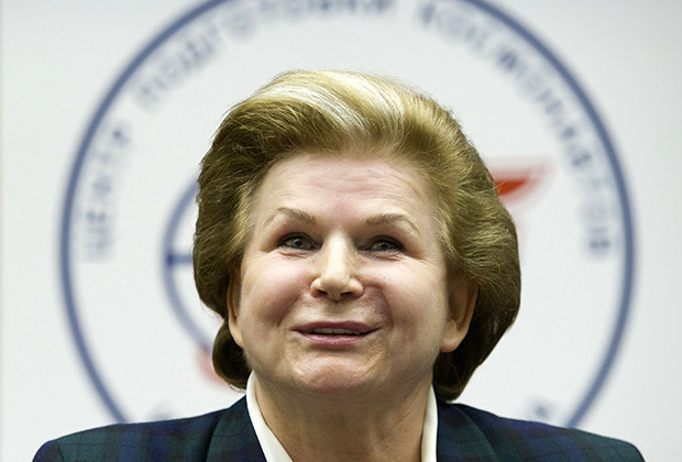Russian cosmonaut Valentina Tereshkova, the first woman cosmonaut, attends a news conference in Star City outside Moscow, June 7, 2013.  REUTERS/Sergei Remezov (RUSSIA - Tags: SCIENCE TECHNOLOGY TRANSPORT HEADSHOT) - RTX10EUR