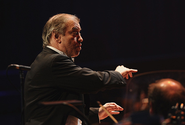 LONDON, ENGLAND - MARCH 30:  Conductor Valery Gergiev performs at the Gorby 80 Gala at the Royal Albert Hall on March 30, 2011 in London, England. The concert is to celebrate the 80th birthday of the former Soviet leader Mikhail Gorbachev.  (Photo by Ian Gavan/Getty Images) *** Local Caption *** Valery Gergiev