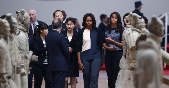 Chinese Police Expel Protesters Before Michelle Obama's Visit