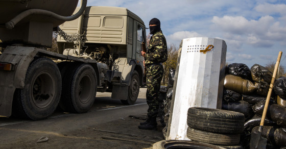 The Odd Cast of Characters Manning the Highway Checkpoints in Crimea