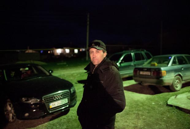 Bakhchysaray, Crimea 2014 Members of the Crimean Tatar civil defense units patrolling their neighborhoods at night.