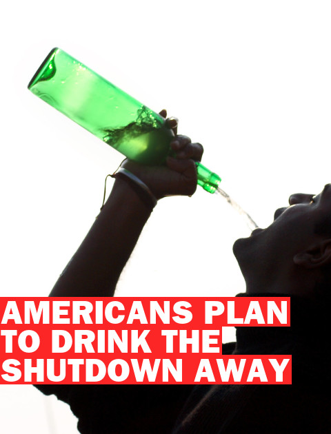 """Party Tonight!"" Americans Plan Booze-Fueled Bashes for Government Shutdown"