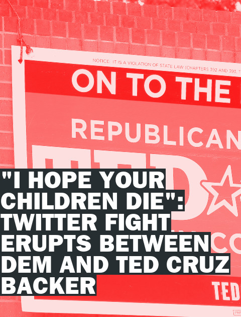"""I Hope Your Children Die!"" Top Democrat Rages at Ted Cruz Spokeswoman"