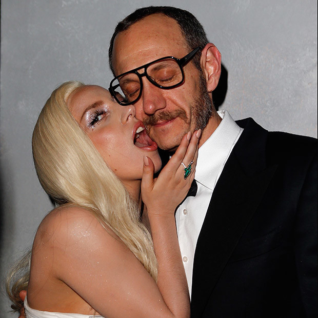WEST HOLLYWOOD, CA - MARCH 02:  (EXCLUSIVE ACCESS, SPECIAL RATES APPLY) Musician Lady Gaga (L) and photographer Terry Richardson attend the 2014 Vanity Fair Oscar Party Hosted By Graydon Carter on March 2, 2014 in West Hollywood, California.  (Photo by Jeff Vespa/VF14/WireImage)