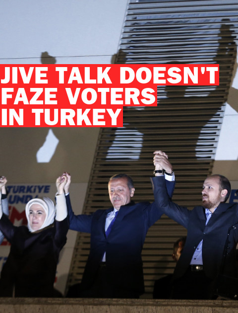 Turkey's Voters See Little Jive Talk From Erdogan