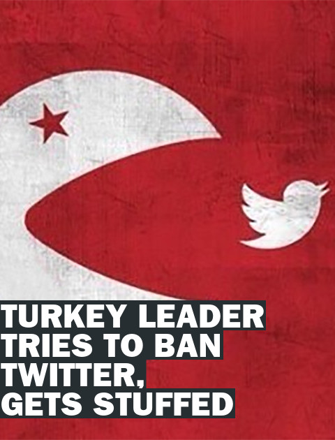 Turkey's Prime Minister Tries to Ban Twitter, Gets Stuffed