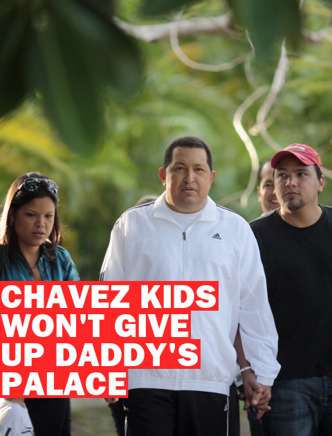 Hugo Chavez's Daughters Refuse to Leave Presidential Party Palace