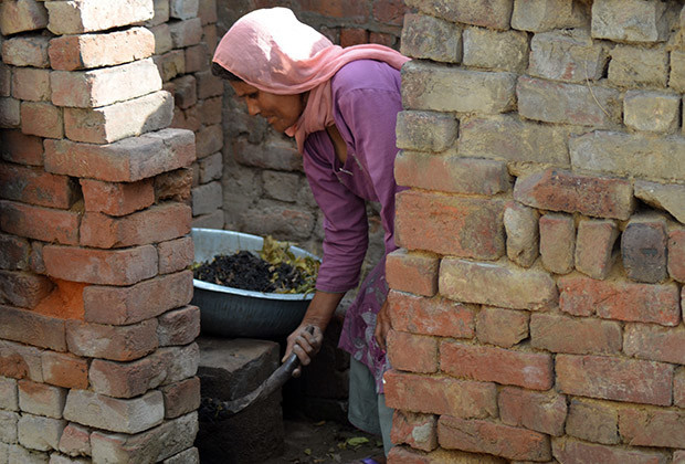 Saraswati, 53,  has been doing this work for over 40 years. She used to accompany her mother as a child collecting human excreta from houses in the northern state of Uttar Pradesh. She can't think of doing anything else. This job is performed by people in the lowest rung of India's discriminatory caste system.