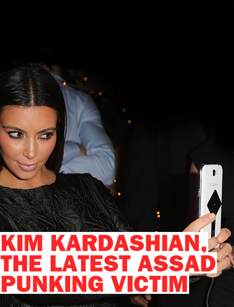 Kim Kardashian, the Latest Assad Punking Victim