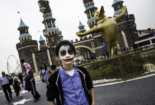 Erdem Deneri had his face painted at Vialand. Vialand is Turkey's new 'Disneyland' attraction. PHOTO BY JODI HILTON FOR VOCATIV