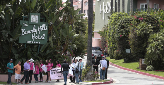 It's Celebrity Against Celebrity at the Beverly Hills Hotel