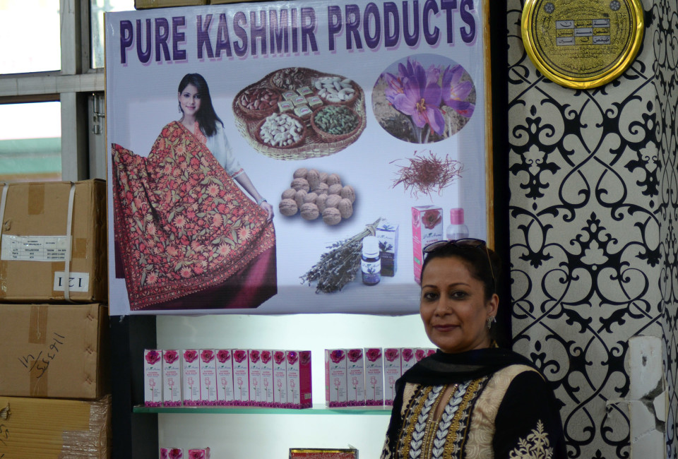 Dr. Gazala Amin, one of few women entrepreneurs in Kashmir who runs a flourishing medicinal and aromatic plant industry.