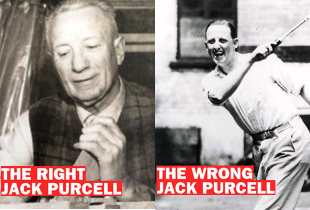 Jack Purcell, the guy known for giving hockey sticks to needy kids and ® Jack Purcell, the badminton star.