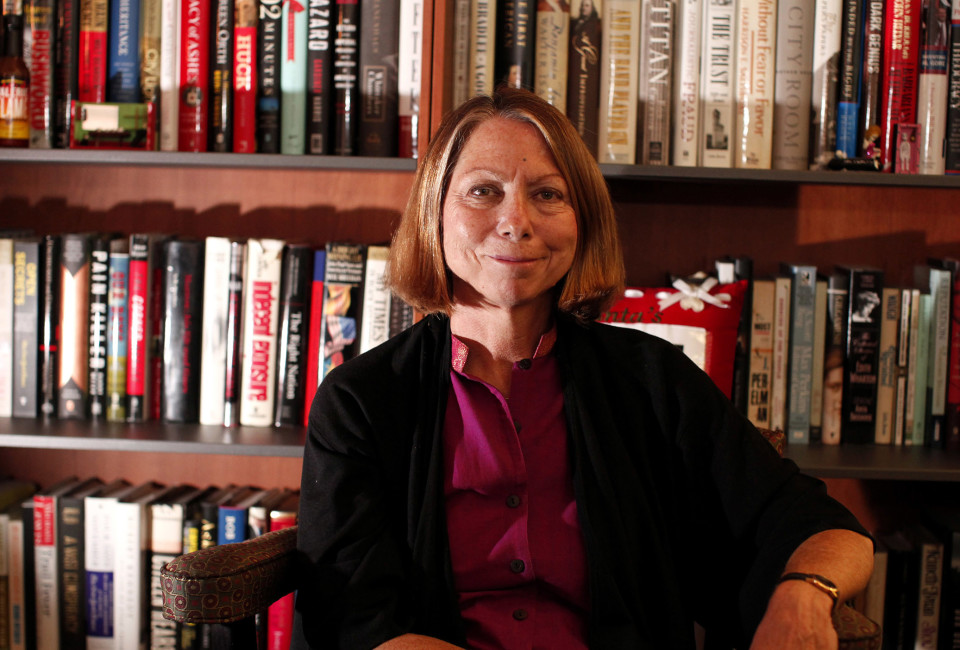 New York Times Executive Editor Jill Abramson poses for a photo during an interview in New York.