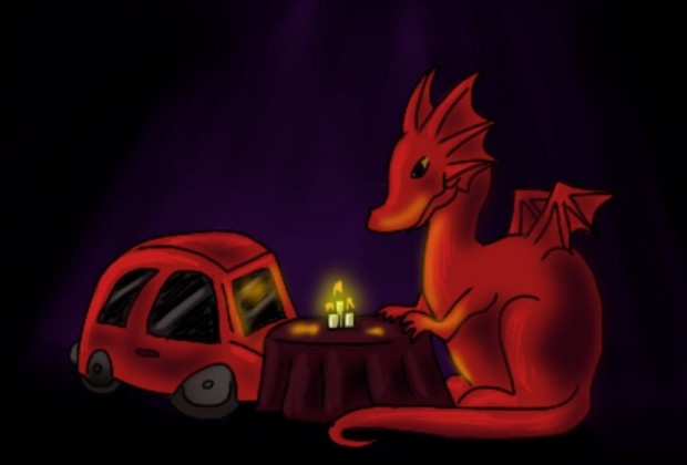 dragon and car sex