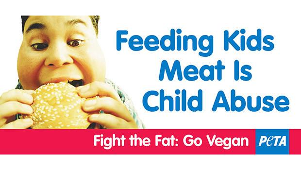 Meat Child Abuse PETA Ads