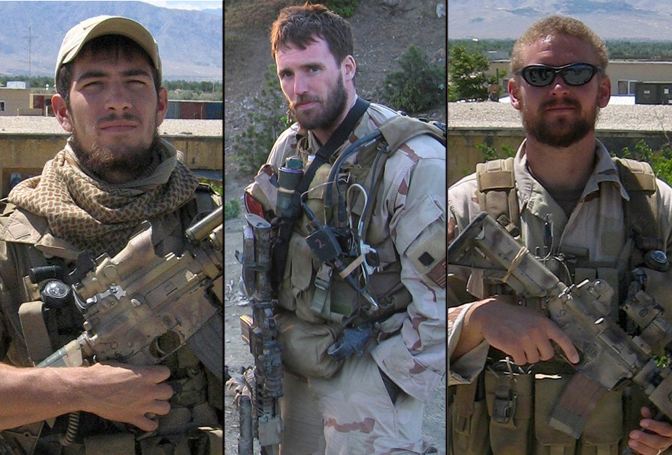 (Left To Right) Gunner's Mate Second Class Danny P. Dietz, 25, from Aurora, Colo, Lt. Michael P. Murphy, from Patchogue, N.Y. and Sonar Technician Second Class Matthew G. Axelson, 29, from Cupertino, Calif., killed by enemy forces during a reconnaissance mission June 28, 2005.