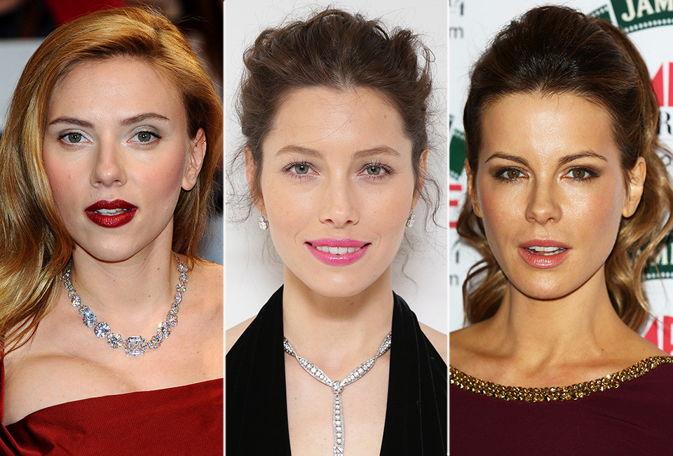 From left scarlett johansson jessica biel and kate beckinsale