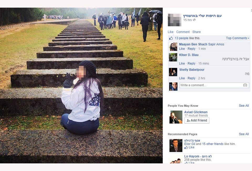 Polémica en Israel por los «selfies» de sus jóvenes en Auschwitz