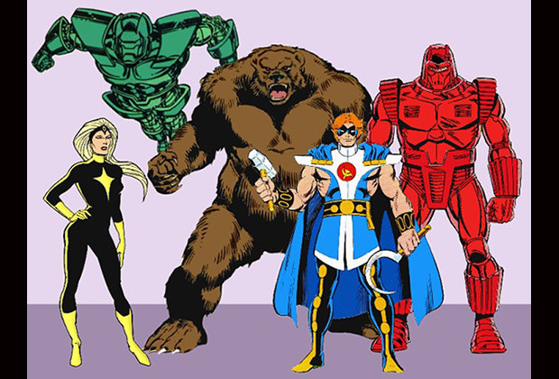 Soviet Super-Soldiers: Darkstar, Vanguard, Crimson Dynamo V, Ursa Major, Titanium Man II / Gremlin.