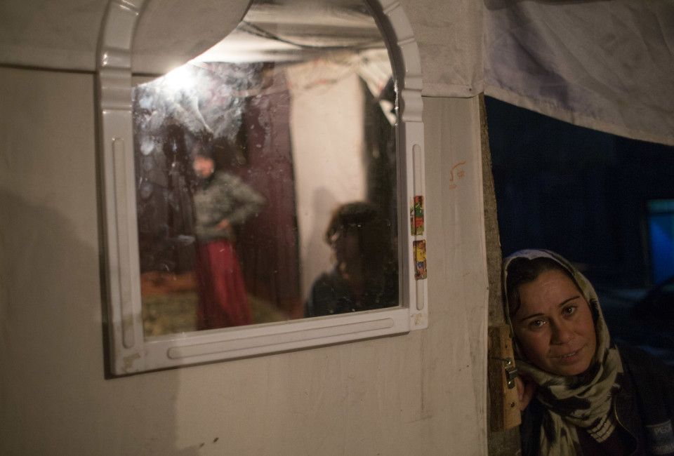 A Syrian refugee woman in Istanbul, where her family relocated recently.