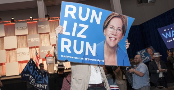 Elizabeth Warren Stalked by Crushed-Out Super PAC