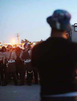 Stump Statements Appeal for Calm in Ferguson