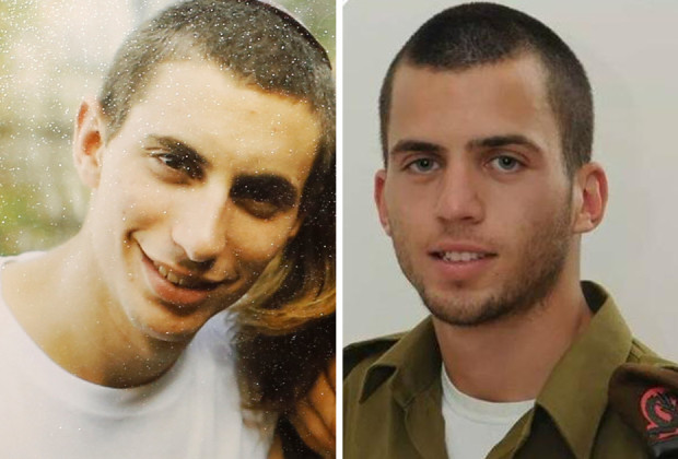 Israeli soldier Hadar Goldin is seen in this undated family handout and Oron Shaul From Facebook