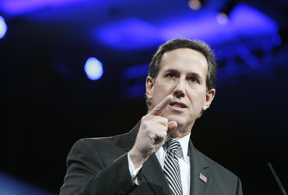 Former U.S. Senator Rick Santorum (R-PA) speaks to the Conservative Political Action Conference (CPAC) in National Harbor, Maryland, March 15, 2013. REUTERS/Jonathan Ernst    (UNITED STATES - Tags: POLITICS) - RTR3F1LN