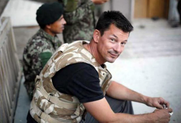John Cantlie at Nangalam base, Pech Valley, Afghanistan 2012.