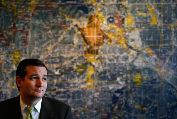 FORT WORTH, TX - OCTOBER 22:  U.S. Sen. Ted Cruz (R-TX) answers questions from the media after meeting with small business owners during the Fort Worth Small Business Roundtable on October 22, 2013 in Fort Worth, Texas. In the wake of the government shutdown, Cruz warned that the tea party shouldn't be dismissed by Washington political power players. (Photo by Tom Pennington/Getty Images)