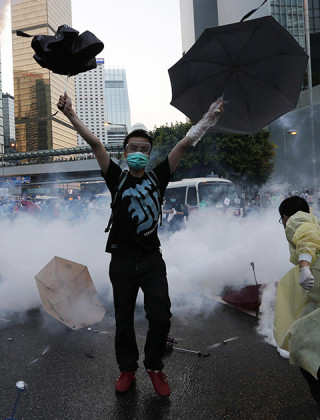 You Won't Hear About the Tear-Gassing in Hong Kong via Chinese Media