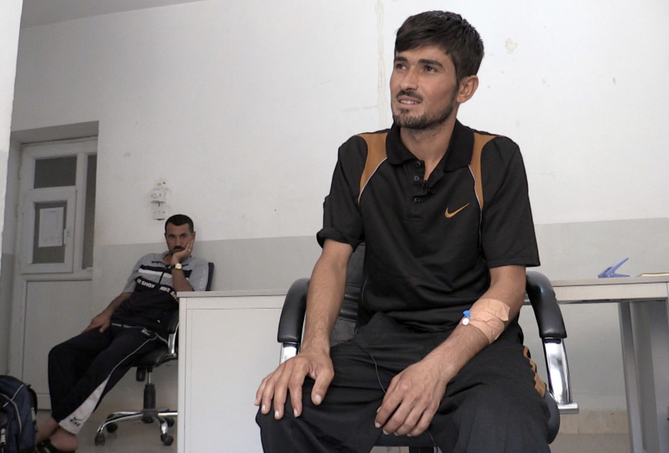 Murat told Vocativ that he had walked twenty miles despite his injuries after he had climbed from under a pile of bodies to reach Mount Sinjar where some 30,000 Yazidi had fled from Islamic State militants in the beginning of August.