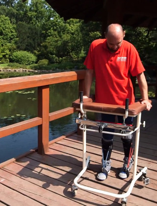 Man Walks After Miracle Surgery to Repair His Severed Spinal Cord