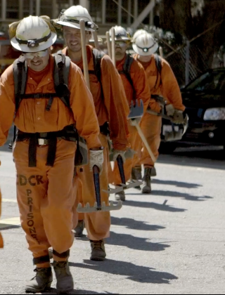 Half the Firefighters Battling the California Wildfires Are Prisoners