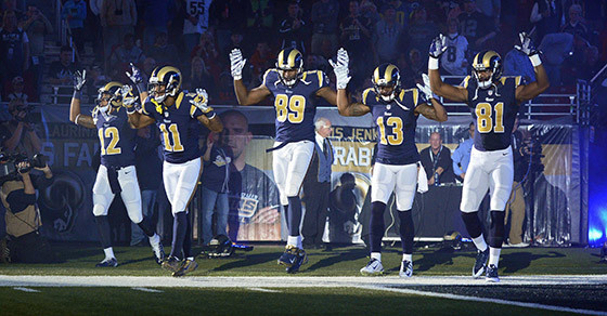 NFL Jerseys Sale - Cops: Protesting Players Are ��Thugs Wearing Rams Uniforms�� - Vocativ