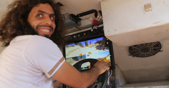 The DIY Tank Driven With a Video Game Controller, Being Used to Hit ISIS