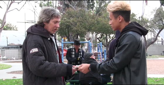 Eyewitness Says Viral Video Of Homeless Man Was Staged