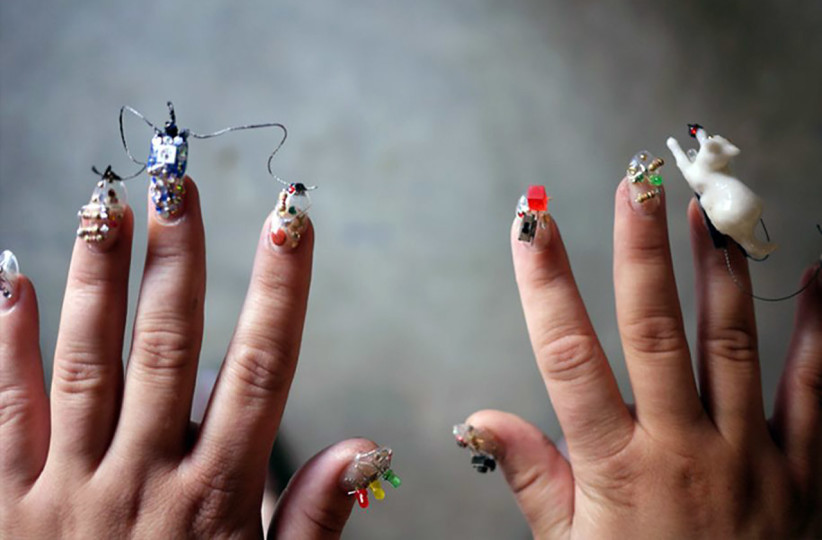 Wearable Tech Nail Art is Now