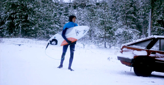 Winter Surfing in Sweden: Hanging 10 at 30 Degrees